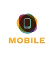 mobile phone of the trend in vector image