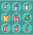 waste rubbish pollution ecology recycling vector image