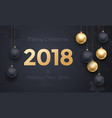 2018 golden decoration banner greeting card new vector image
