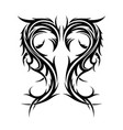 abstract hand drawn tribal tattoo vector image vector image