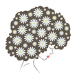 abstract tender flowers hair vector image vector image