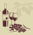 Background template for the wine menu vector image vector image