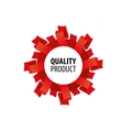 best quality stamp vector image vector image