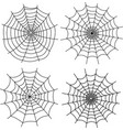 black halloween spiderweb on white vector image