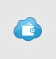 Blue cloud Wallet icon vector image