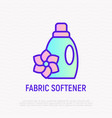 bottle fabric softener thin line icon vector image vector image