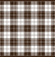 brown and white tartan plaid seamless pattern vector image vector image