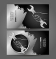 business card wrench in hand for repair vector image vector image