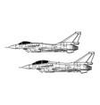chengdu j-10 vector image vector image