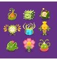 Childish Alien Fantastic Alive Plants Emoji vector image vector image