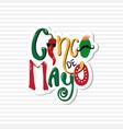 cinco de mayo emblem design calligraphy lettering vector image vector image