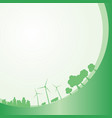 clean energy banner vector image