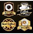 Coffee labels set vector image vector image