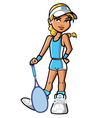 confident pretty blonde tennis player vector image vector image