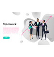 cooperation or teamwork online internet website vector image vector image