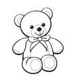 cute cartoon teddy bear coloring book image vector image