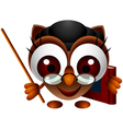 Cute owl presenting vector | Price: 3 Credits (USD $3)