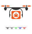 drugs drone shipment flat icon vector image vector image