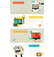 flat and linear concept banners programming vector image vector image