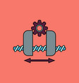 flat icon design collection gears and wheels vector image vector image