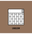 Flat icon of linoleum Finishing materials floor vector image vector image