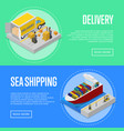 global sea shipping and delivery service posters