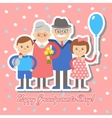 Grandmother and grandfather grandchildren vector image