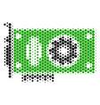 halftone dot video gpu card icon vector image vector image