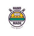 handmade premium quality colorful logo template vector image vector image