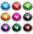 hen set 9 collection vector image vector image