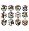 horse racing equestrian rides jockey polo club vector image vector image