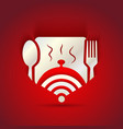 icon concept for restaurant menu and free WiFi vector image vector image