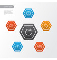 interface outline icons set collection of sound vector image vector image