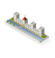 isometric medieval castle vector image vector image
