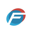 letter f initial logo vector image vector image
