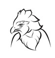 Line art of crown eagle vector image vector image