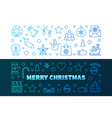 merry christmas colorful line banners xmas vector image vector image
