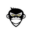 monkey logo design template vector image vector image
