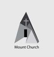 Mount Church Logo vector image vector image
