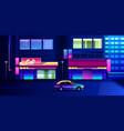 night neon city vector image vector image