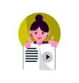 online activities character female reading ebook vector image