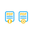 pdf file icons isolated on white vector image vector image