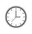 pictogram clock time watch work icon vector image