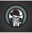 private investigator Skull vector image