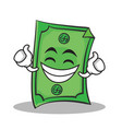 proud face dollar character cartoon style vector image vector image