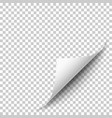 realistic white page corner vector image