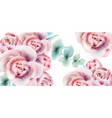 roses watercolor background card delicate floral vector image vector image
