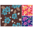 Seamless flower summer fabric pattern vector | Price: 1 Credit (USD $1)