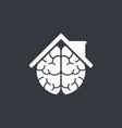 smart home idea logo design template vector image vector image