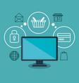 social marketing flat icons vector image
